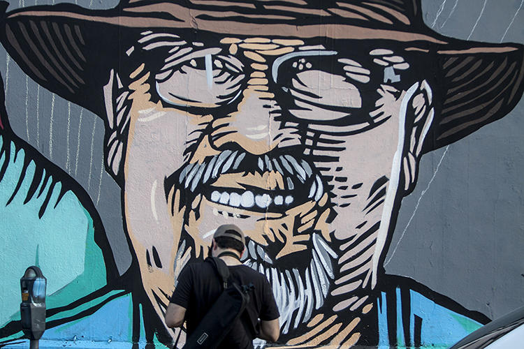 A mural in Monterrey of murdered Mexican journalist Javier Valdez Cárdenas. Mexico is the most deadly country in the Western hemisphere for journalists. (AFP/Julio Aguilar)