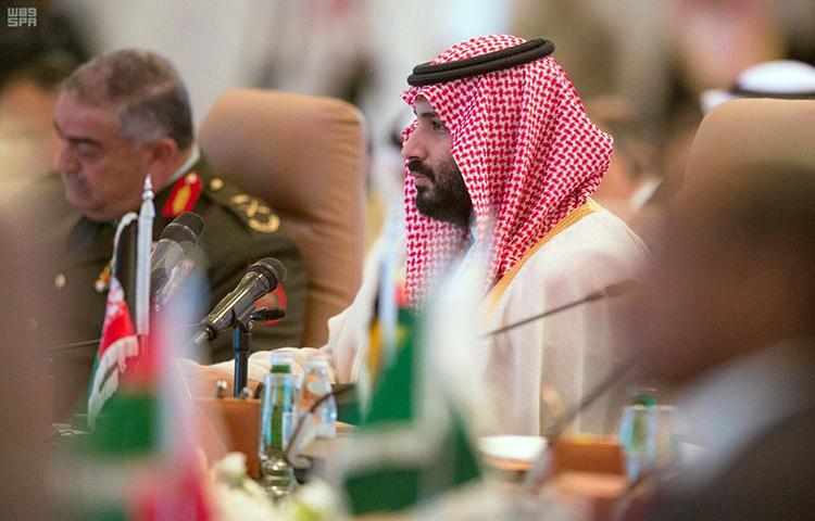 In this photo released by the state-run Saudi Press Agency, Saudi Crown Prince Mohammed bin Salman speaks at a meeting in Riyadh, Saudi Arabia on Sunday, Nov. 26, 2017. (AP/Saudi Press Agency)
