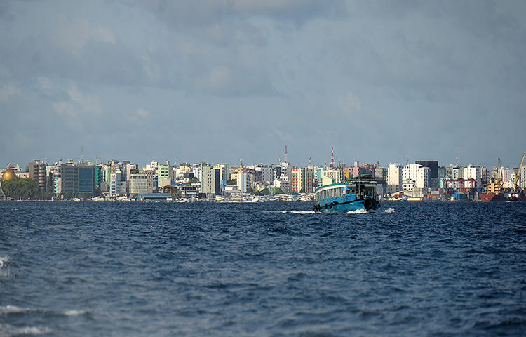 A view of the island of Male, the capital of the Maldives in August 2016. Amid political turmoil in the Maldives, the press has come under attack. (AFP/Ishara Kodikara)