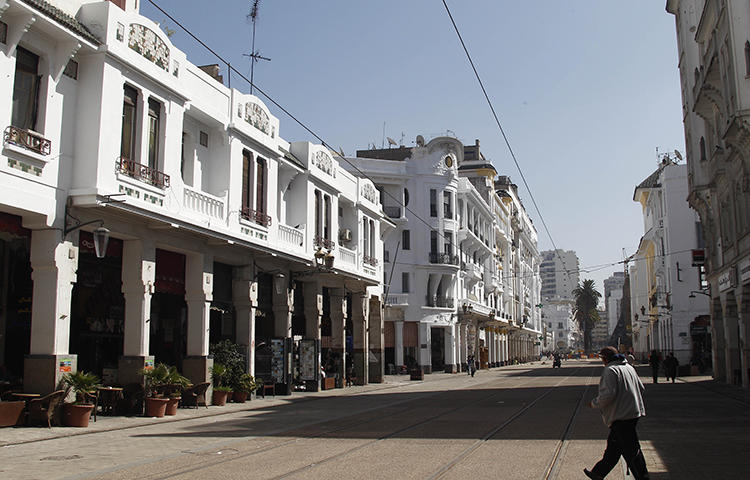 A boulevard in Casablanca, Morocco as seen in October 2012. A Casablanca court on February 12, 2018, convicted journalist Taoufik Bouachrine of criminal defamation in a lawsuit filed by two government ministers, according to news reports. (AP/Abdeljalil Bounhar)