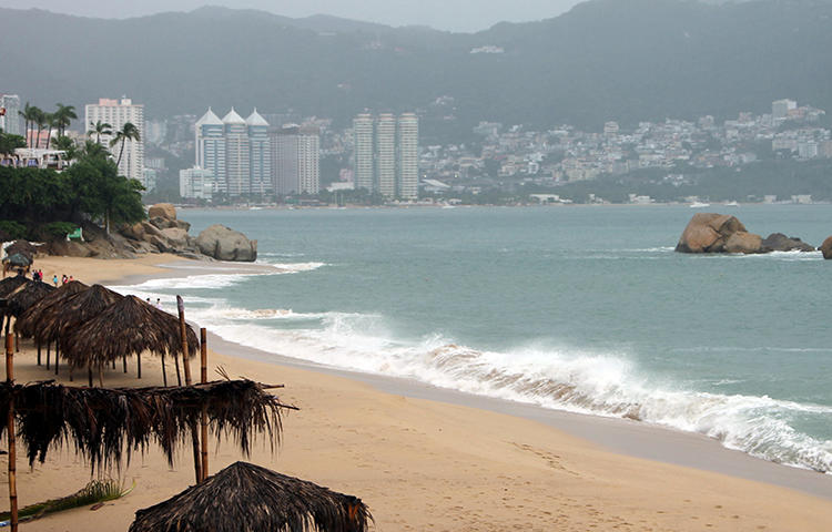 A general view of a beach is seen in Acapulco, Mexico in September 2017. Two unidentified assailants on February 5 shot dead Pamika Montenegro, a journalist, satirist and social media commentator, at her Acapulco restaurant. (Reuters/Troy Merida)