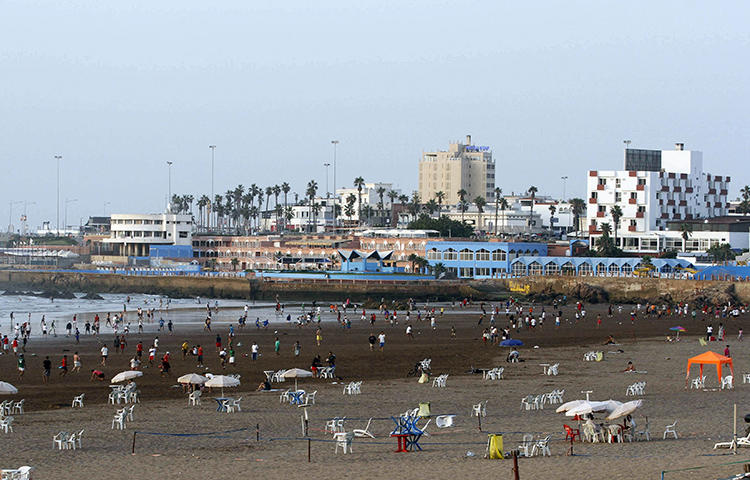 A beach in Casablanca in July 2012. Moroccan police on February 23, 2018 arrested Taoufik Bouachrine, a columnist and the publisher of Akhbar al-Youm, at the newspaper's headquarters in Casablanca. (Reuters/Youssef Boudlal)