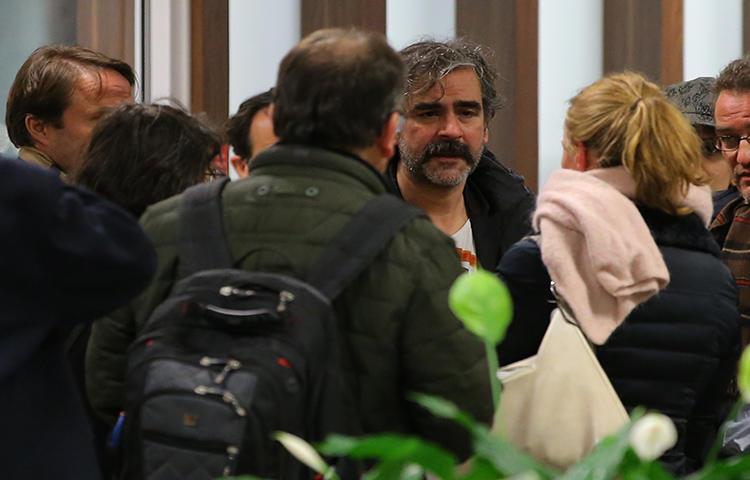 German-Turkish journalist Deniz Yucel walks after he was released from government detention on February 16, 2018. (Reuters/Huseyin Aldemir)