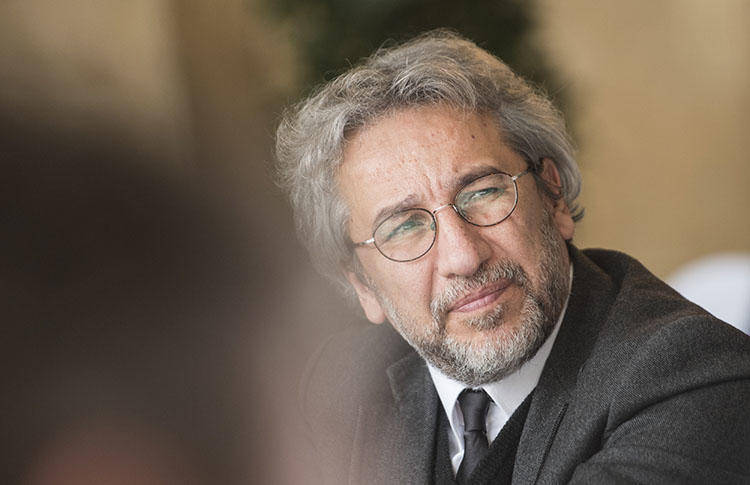 Turkey's Supreme Court has ruled that Cumhuriyet journalist Can Dündar, pictured in Postdam in 2017, should face a retrial on espionage charges. (AFP/Steffi Loos)