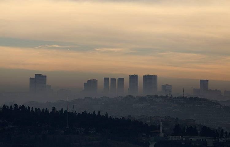 Morning mists over the Asian side of Istanbul, Turkey in January 2018. A Turkish court on March 8, 2018, sentenced at least 22 journalists on terrorism-related charges, according to media reports. (Reuters/Goran Tomasevic)