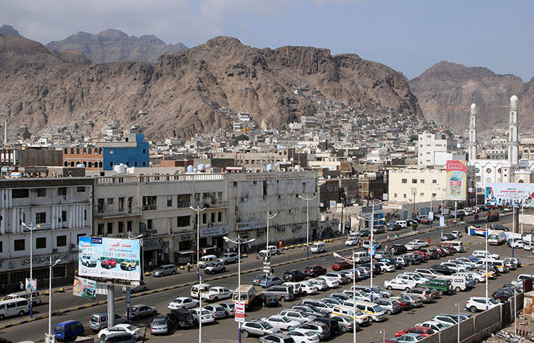 The southern port city of Aden. Armed attackers in the Yemeni city raided a media foundation and set fire to the presses used to publish two newspapers. (Reuters/Fawaz Salman)