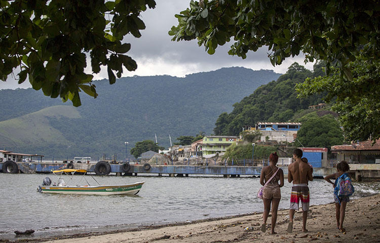 A beach in Rio de Janeiro, Brazil on March 04, 2018. Brazilian authorities indicted reporter Felipe de Oliveira Araújo Rodrigues on anti-state charges after he reported on Islamic State militant groups, according to reports. (AFP/ Mauro Pimentel)