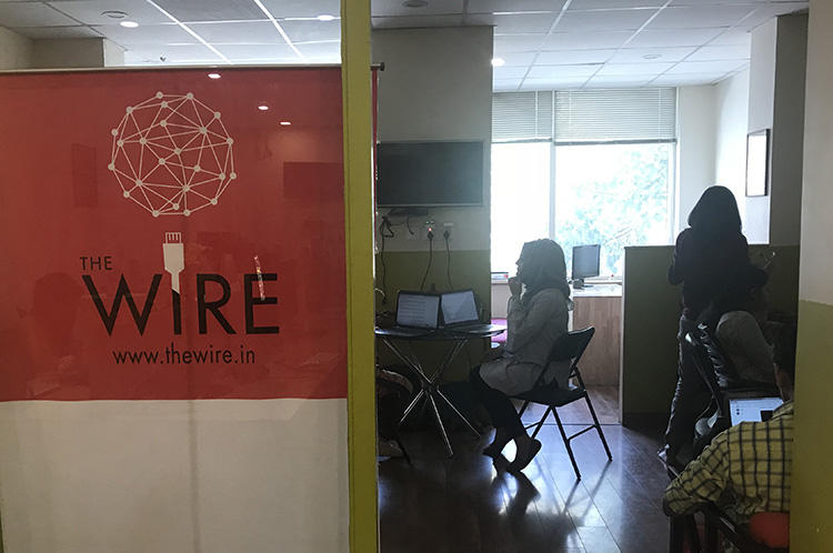 The offices of news website, The Wire. Journalists with whom CPJ spoke said a criminal defamation suit and gag order filed against The Wire had a chilling effect on India's press. (CPJ/Aliya Iftikhar)
