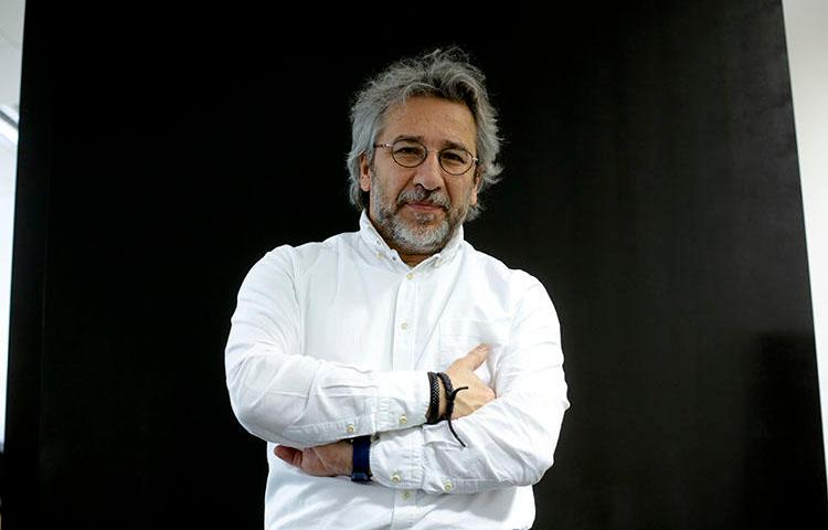 Can Dündar, pictured on April 7, 2017, in Berlin, is the former chief editor of the Turkish newspaper Cumhuriyet and faces prosecution for his reporting. (AP Photo/Markus Schreiber)