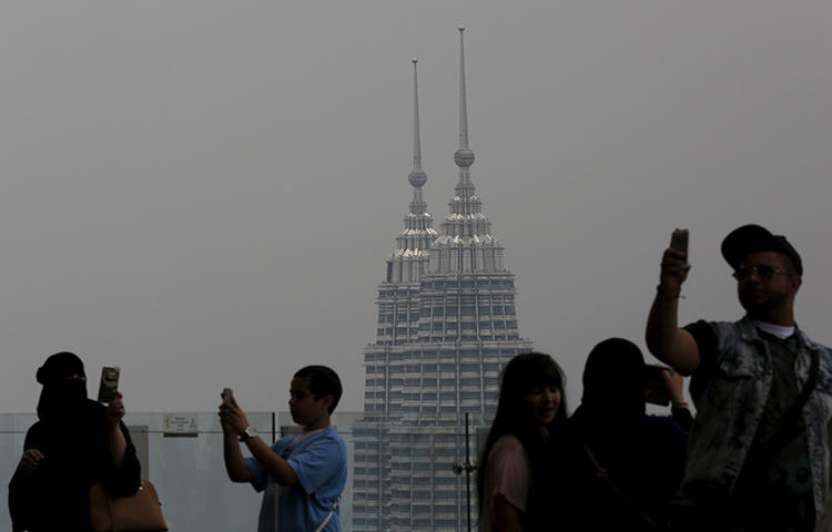 Malaysia's landmark Petronas Towers in Kuala Lumpur in March 2015. A Malaysian court on April 30, 2018, handed down the nation's first conviction under its recently enacted