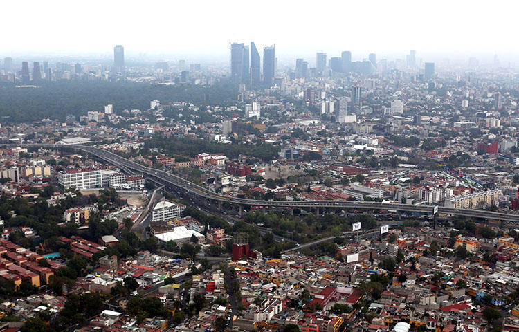 A view of Mexico City, Mexico in April 2018. Unknown intruders on April 20 burglarized the home of one of Proceso's website editors in Mexico City, according to reports. (Reuters/Gustavo Graf)