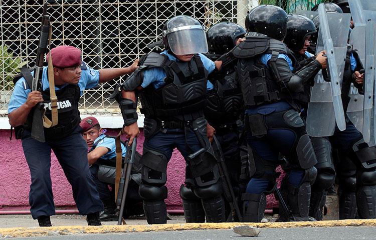 Um memorial em Manágua, na Nicarágua, para manifestantes mortos durante os protestos contra o plano do governo de reformar as aposentadorias. Pelo menos um jornalista foi morto enquanto cobria as manifestações, segundo as notícias. (Reuters / Jorge Cabrera)