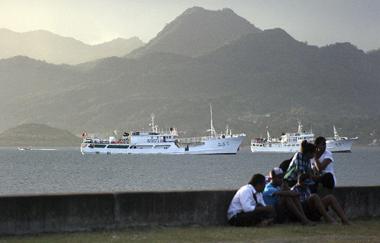 A harbor in Fiji's capital, Suva, in August 2014. Fiji authorities charged the weekly Fiji Times, three newspaper executives, and an opinion columnist with sedition, according to reports. (Reuters/Lincoln Feast)