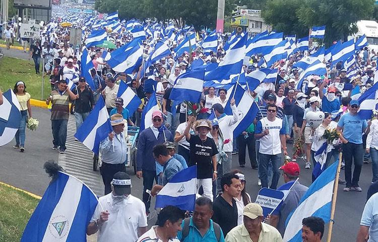 Protests in Managua. Journalists in Nicaragua say they have been beaten, attacked, and had equipment stolen during months of protests against President Daniel Ortega. (Shannon O'Reilly)