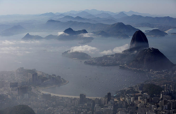 A view of the Sugarloaf Mountain in Rio de Janeiro, Brazil, in June 2018. Offices of a local news outlet were shot at in the southern state of Santa Catarina on July 12. (Reuters/Bruno Kelly)
