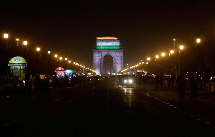 The India Gate war memorial in New Delhi, India in March 2018. India's National Investigation Agency summoned reporter Auqib Javeed to New Delhi for questioning at the agency's headquarters, according to reports. (Reuters/Saumya Khandelwal)