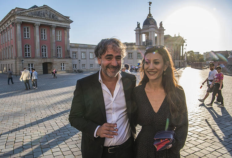 German-Turkish journalist Deniz Yücel, pictured with his wife Dilek before the M100 media awards in Potsdam on September 18. A Turkish court this week rejected a compensation case for Yücel's wrongful arrest over his year-long detention. (AFP/John MacDougall)