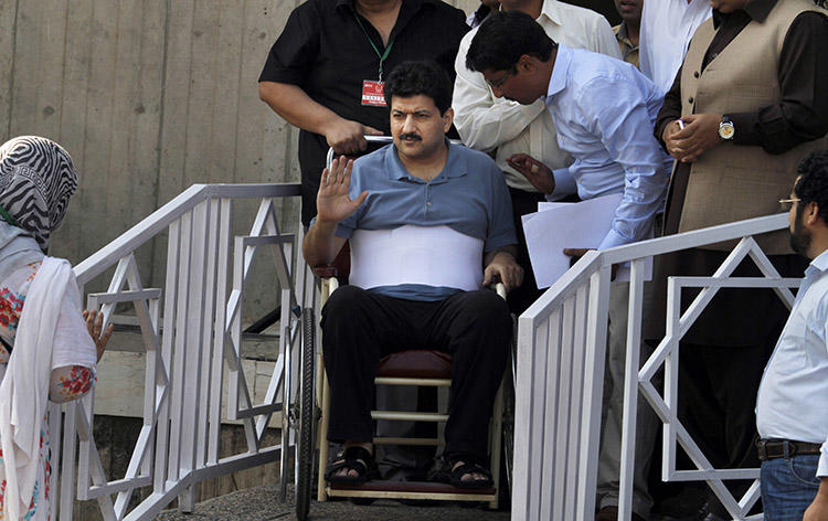 Geo News anchor Hamid Mir leaves the Supreme Court in Islamabad in May 2014, after a hearing on the attempted assassination against him. Journalists point to the attack as a pivotal moment for the country's media. (AP/Anjum Naveed)