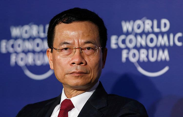 Vietnam's acting Minister of Information and Communication Nguyen Manh Hung attends the World Economic Forum in Hanoi on September 12. A Vietnamese court has sentenced a journalist to four years in prison over his coverage of evictions. (Reuters/Kham)