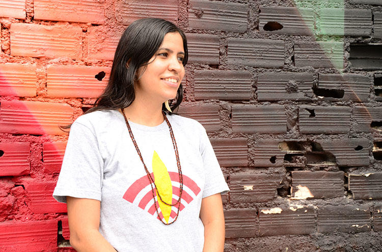 Radio Yandê founder Renata Machado. Rádio Yandê is one of the few outlets in Brazil to tell the stories of the country's indigenous people on their own terms. (Alfredo Boc Boc)