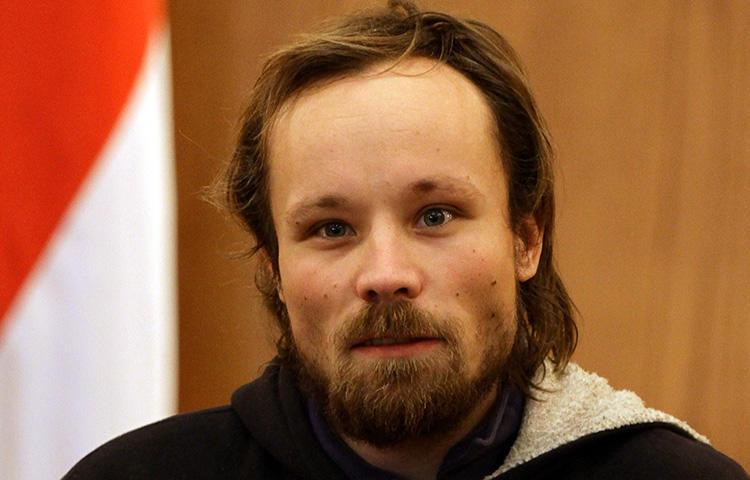 German freelancer Billy Six, pictured after his release from Syrian detention in 2013. Six is detained in Venezuela on charges including espionage. (AFP/Louai Beshara)