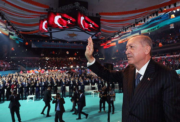 President Recep Tayyip Erdoğan, pictured at a meeting in Ankara on January 1. The president said this week that recent reforms have made Turkey's press more democratic. (AFP/Kayhan Ozer)