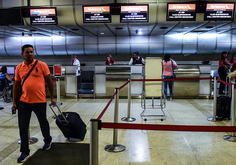 Venezuela's Maiquetia airport as seen on July 27, 2017. A Dutch freelance reporter was recently detained and interrogated there, and was sent back to the United States.