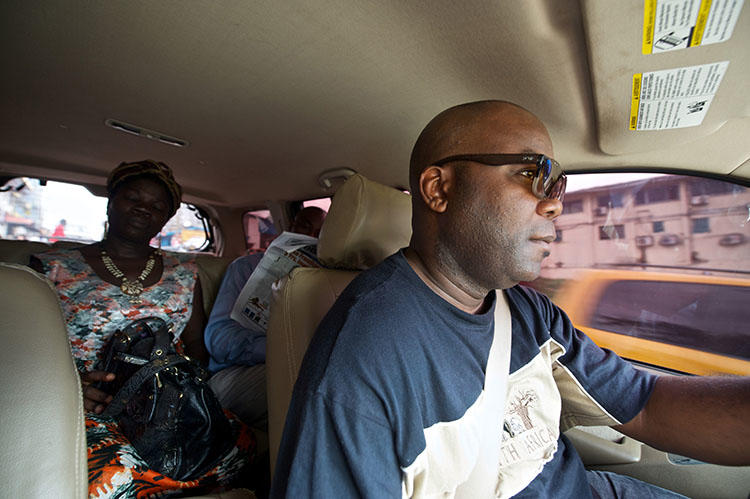 FrontPageAfrica publisher Rodney Sieh, pictured on his release from prison in November 2013. Sieh says journalists in Liberia continue to face threats and harassment for their critical reporting. (AP/Mark Darrough)