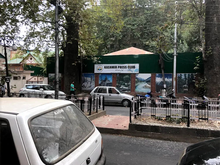 The Kashmir Press Club office is seen in Srinagar, Jammu and Kashmir state. In December 2018, foreign journalist was denied entry into India after reporting from Kashmir without government permission. (CPJ/Aliya Iftikhar)