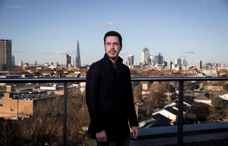 Rori Donaghy, pictured in London in January 2019, is one of at least four journalists that Reuters says were surveilled under the UAE's Project Raven operation. (Reuters/Simon Dawson)