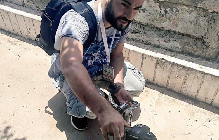 Slain Libyan photojournalist Mohamed Ben Khalifa in Tripoli, Libya, on June 5, 2018. (Hiba Shalabi)