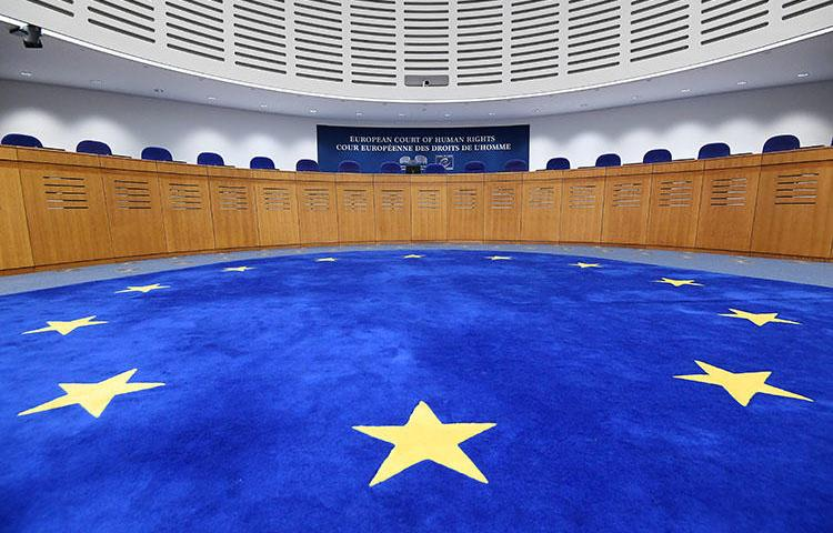 The European Court of Human Rights in Strasbourg. The court has ruled in favor of a pro-Kurdish journalist persecuted by Turkish authorities. (AFP/Frederick Florin)