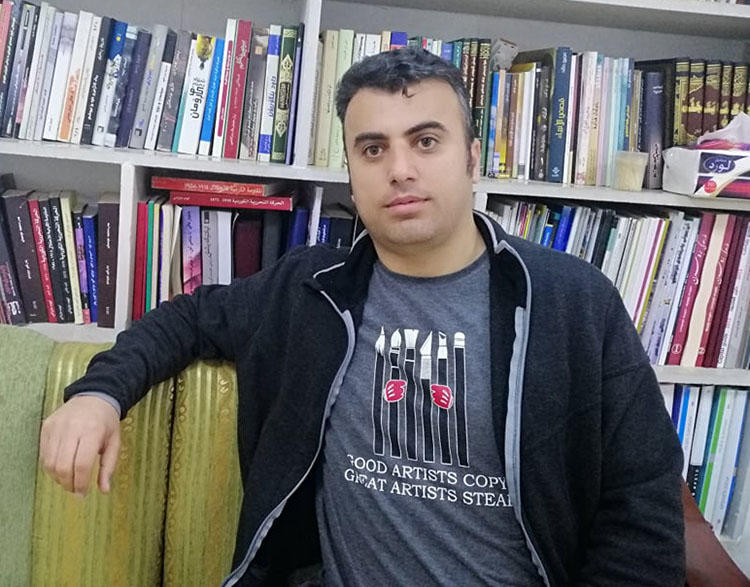 Freelance journalist Sherwan Sherwani. Authorities detained Sherwani, who live streams protests in Duhok. (Sherwan Sherwani)