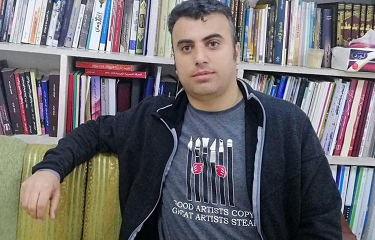 Freelance journalist Sherwan Sherwani. Authorities detained Sherwani, who live streams protests in Duhok. (Sherwan Sherwani)