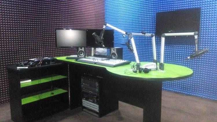 The broadcast room of the Jay FM radio station in Jos, Plateau state, Nigeria, sits empty following a March 1, 2019, shutdown order by the National Broadcasting Commission. (Jay FM/Mangna Yusuf)