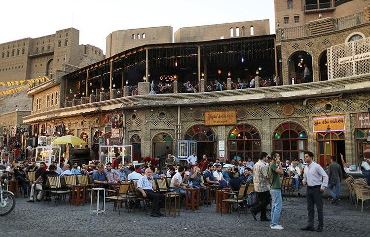 A cafe in the old city of Erbil, in September 2018. Journalists in Iraqi Kurdistan say they are under pressure from authorities. (Reuters/Thaier Al-Sudani)