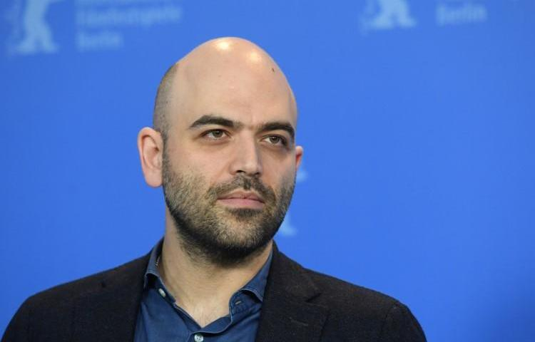 Roberto Saviano seen at the 69th Berlinale International Film Festival in Berlin on February 12, 2019. Saviano is facing criminal defamation charges issued by Italy's interior minister. (Annegret Hilse/Reuters)
