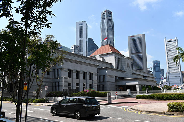 Singapore's Parliament House is seen on March 20, 2019. The country is currently considering a law that poses a threat to freedom of speech online. (Roslan Rahman/AFP)