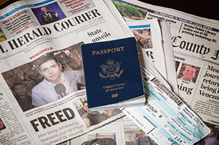 Os jornais dos EUA informam sobre o freelancer norte-americano Cody Weddle, que foi brevemente detido e depois expulso da Venezuela. (Marcus Caudill) (Marcus Caudill)