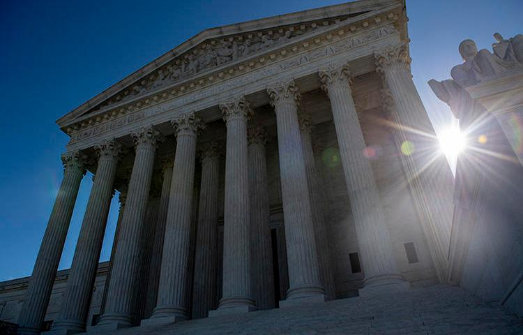 The Supreme Court, pictured on April 15, is due to hear arguments in a case brought by South Dakota daily, the Argus Leader, that centers around exemptions to Freedom of Information Act requests. (AFP/Eric Baradat)