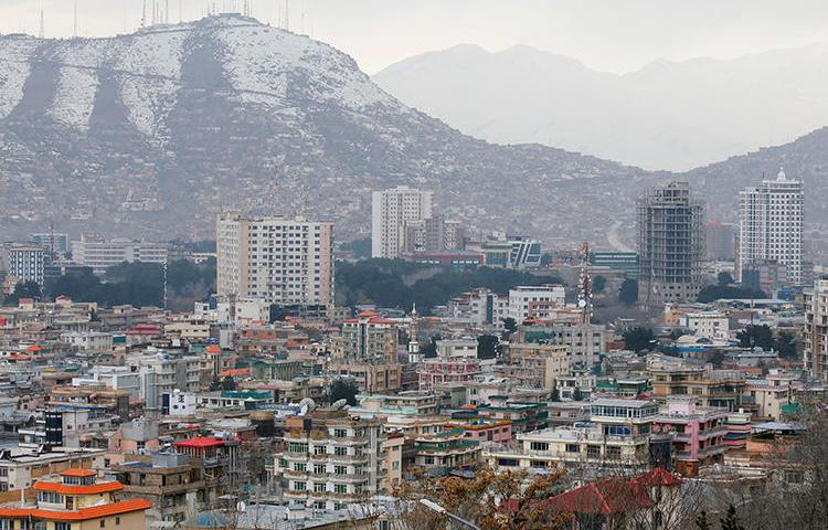 Kabul is seen on March 13, 2019. Two unnamed individuals were recently sentenced to death for the 2018 killing of Kabul News journalist Abdul Manan Arghand. (Reuters/Omar Sobhani)