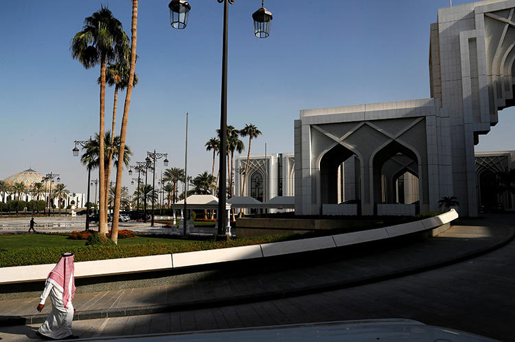The Saudi Royal Court in Riyadh is seen on October 16, 2018. Saudi Arabia recently arrested another three bloggers amid a larger crackdown. (Reuters/Leah Millis)