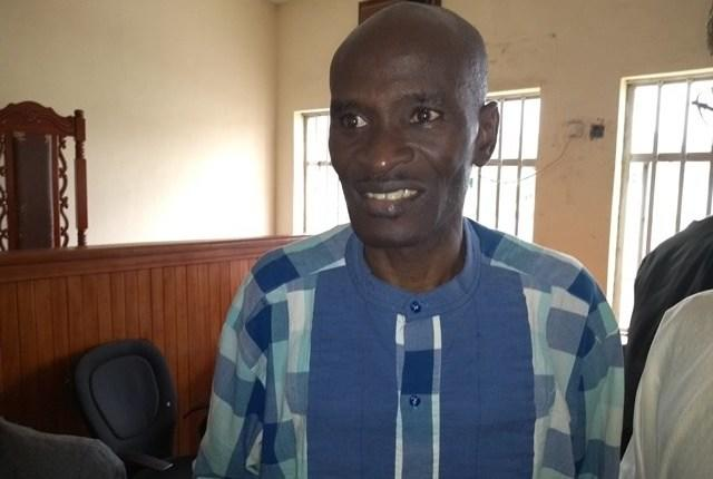 Nigerian journalist Jones Abiri on the day of one of his court hearings in Abuja on August 2, 2018. (Chikezie Omeje)