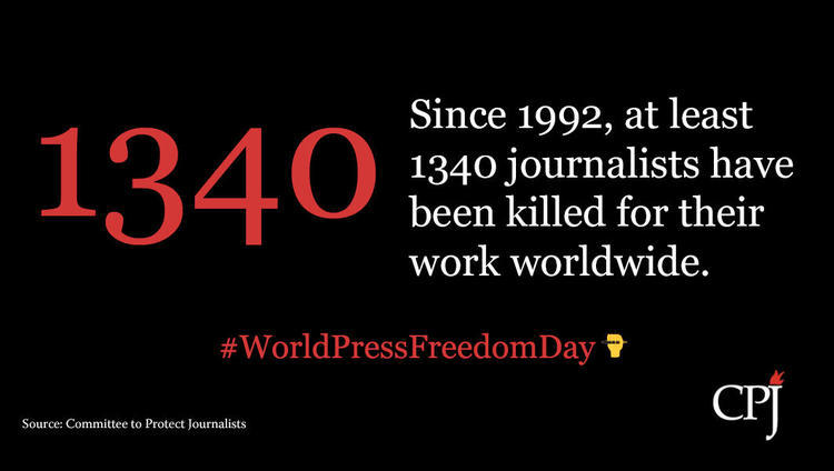 A staggering 1,340 journalists have been killed since CPJ started keeping track records in 1992.