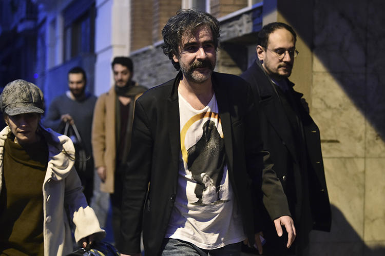 Die Welt correspondent Deniz Yucel, pictured after his February 2018 release from prison, has testified about his treatment in a Turkish prison. (AFP/Yasin Akgul)