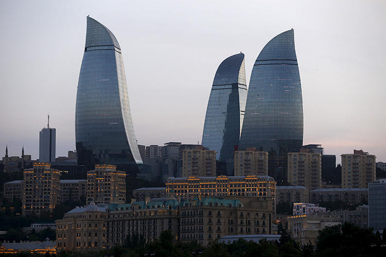 Baku, Azerbaijan, as seen on June 18, 2015. An Azerbaijani journalist in exile in the United States has recently faced a harassment campaign by pro-government media in Azerbaijan. (Reuters/Stoyan Nenov)
