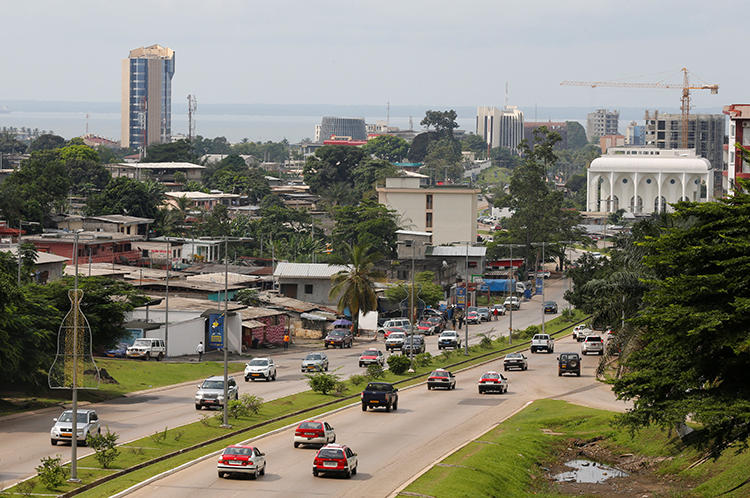 Libreville, Gabon, is seen on January 16, 2017. The country's media regulator recently suspended two newspapers over defamation claims. (Reuters/Mike Hutchings)