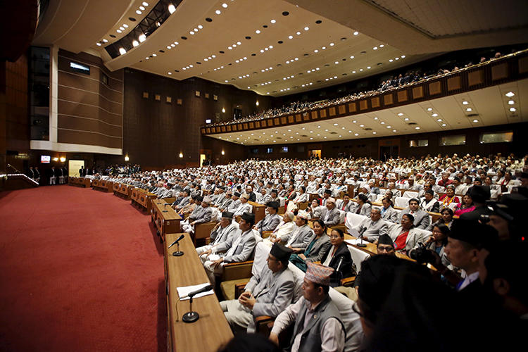 The Federal Parliament of Nepal is seen in Kathmandu on September 20, 2015. The body is currently considering measures that could restrict freedom of speech in the country. (Reuters/Navesh Chitrakar)