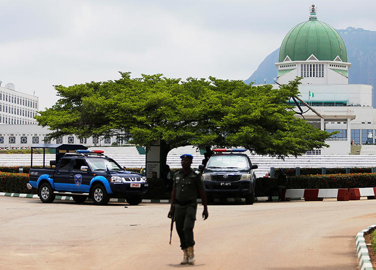 The National Assembly is seen in Abuja, Nigeria, on August 7, 2018. Authorities recently announced strict new requirements for obtaining press credentials to cover the assembly. (Reuters/Afolabi Sotunde)