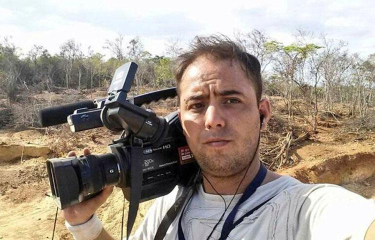 Photojournalist Jesús Medina, who has been detained in Venezuela for nearly nine months. (Espacio Publico)